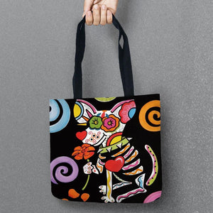 Bag - Skull Dog Tote Bag