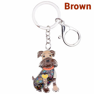 Happy Schnauzer Keychain * Free Shipping! *