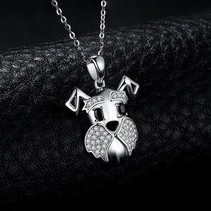 925 Sterling Silver Schnauzer Pendant Necklace