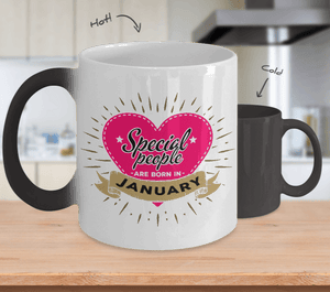 Coffee Mug - 01 Special People Are Born In January Color Changing Coffee Mug