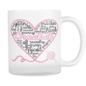 Drinkwear - Crochet Heart Mug
