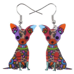 Earrings - Chihuahua Acrylic Earrings