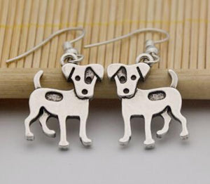 Earrings - Silver Jack Russell Earrings