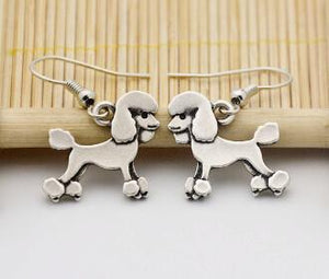 Earrings - Silver Poodle Earrings