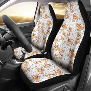 Cute Corgi Car Seat Covers (White) * Free Shipping! *