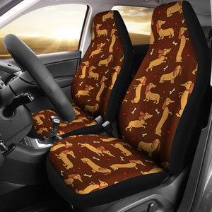 Brown Dachshund Car Seat Covers (Set of 2) * Free Shipping! *
