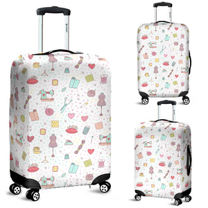 Sewing Polkadot Luggage Cover