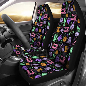 Black Sewing Tools Car Seat Covers (Set of 2) * Free Shipping! *