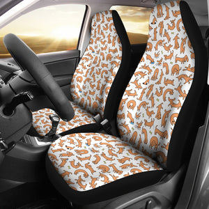 Funny Dachshund Car Seat Covers (White) * Free Shipping! *