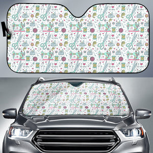 I Love To Sew Auto Sun Shade (White)