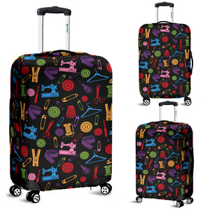 Black Sewing Tools Luggage Cover