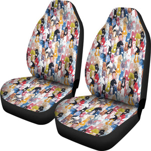 Colorful Horses Car Seat Covers * Free Shipping! *