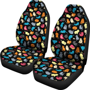 Colorful Cat Car Seat Covers (Black) * Free Shipping! *