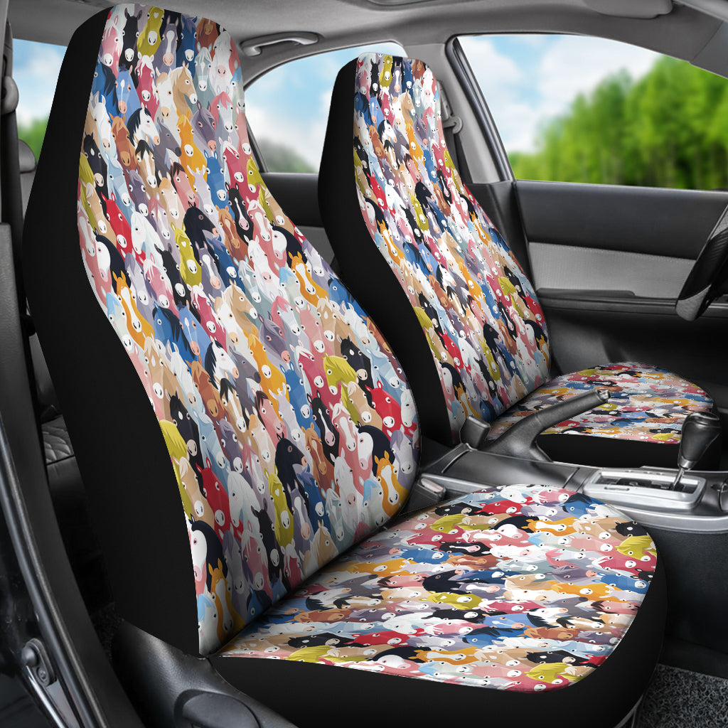 Colorful Horses Car Seat Covers * Free Shipping! * - OnePunz