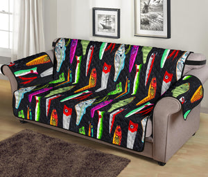 Colorful Fishing Lures Chair & Sofa Protector