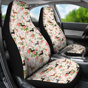 Dachshund Floral Car Seat Covers * Free Shipping! *