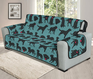 Cute Black Labrador Chair & Sofa Protector