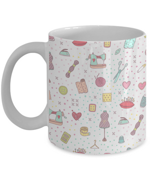 Cute Sewing Kit Full Wrap Mug