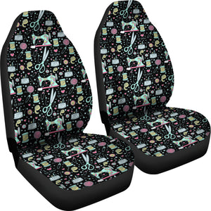I Love to Sew Car Seat Covers (Black) * Free Shipping! *