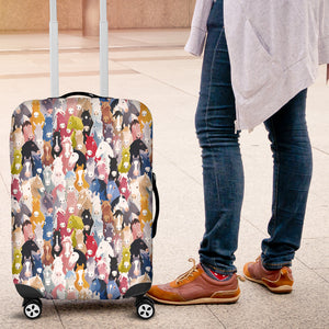 Colorful Horses Luggage Cover