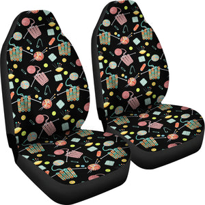 Knitting Tools Car Seat Covers (Black) * Free Shipping! *