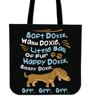 Happy Doxie Tote Bag