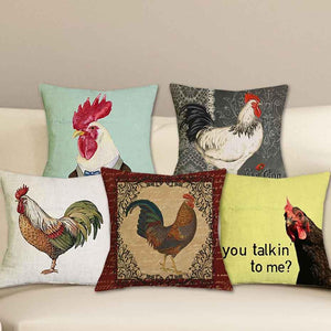 Home Goods - Chicken Cushion Cover * Free Shipping! *