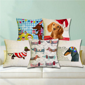 Home Goods - Happy Dachshund Cushion Covers