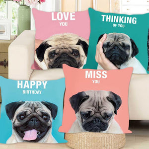 Home Goods - Pug Mood Cushion Cover