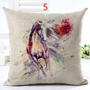 Home Goods - Watercolor Horse Cushion Cover