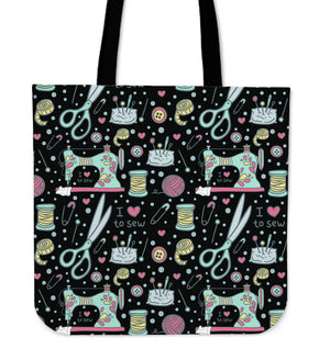 I Love To Sew Tote Bag