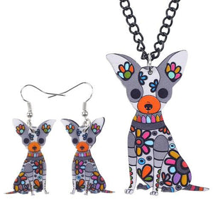 Jewelry Set - Chihuahua Acrylic Jewelry Set