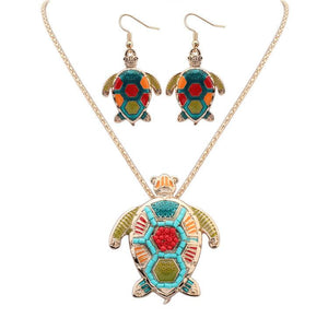 Jewelry Set - Colorful Turtle Jewelry Set