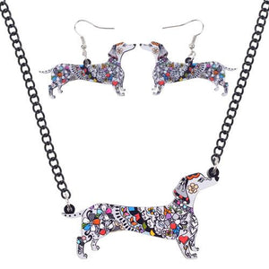Jewelry Set - Dachshund Acrylic Jewelry Set