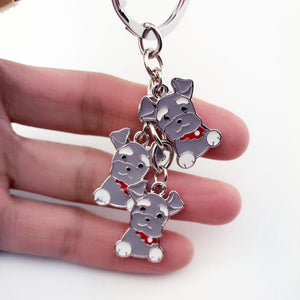 Keychain - Mini Schnauzer Key Chain