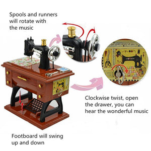 Music Box - Mini Sewing Machine Music Box * Free Shipping! *