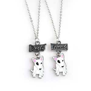 Necklace - 2PCS/SET Bull Terrier Best Friend Necklace