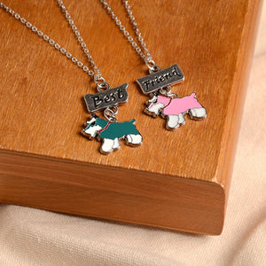 Necklace - 2PCS/SET Schnauzer Best Friend Necklace