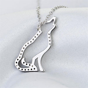 Necklace - 925 Sterling Silver Wolf Pendant Necklace