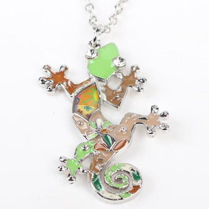 Necklace - Colorful Lizard Necklace