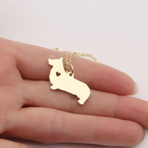 Necklace - Corgi Heart Pendant Necklace