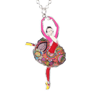 Necklace - Cute Ballet Girl Pendant Necklace