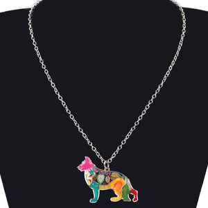 Necklace - Cute German Shepherd Chain Necklace