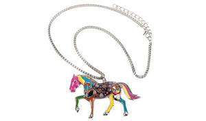 Necklace - Cute Horse Pendant Necklace