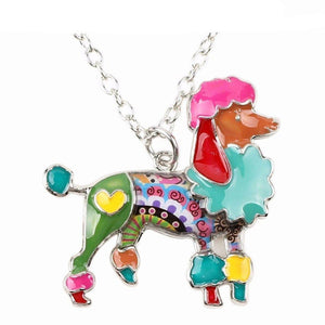 Necklace - Cute Poodle Pendant Necklace