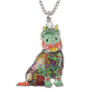 Necklace - Cute Schnauzer Sitting Necklace