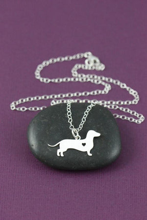 Necklace - Dachshund In My Heart Necklace