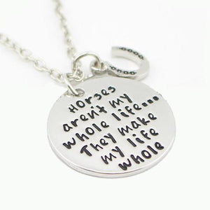 Necklace - Horses Aren't My Whole Life Necklace