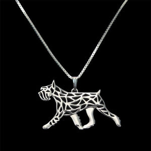 Necklace - Schnauzer Movement Pendant Necklace