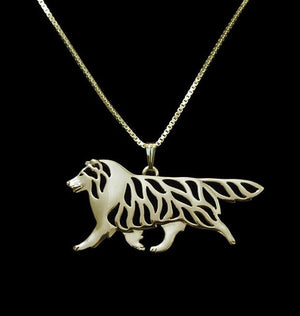 Necklace - Shetland Sheepdog Movement Pendant Necklace